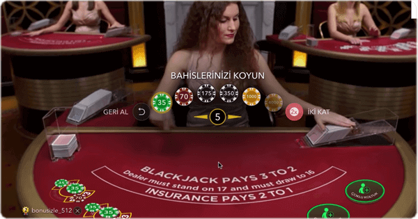 Blackjack'te hile. Blackjack masası