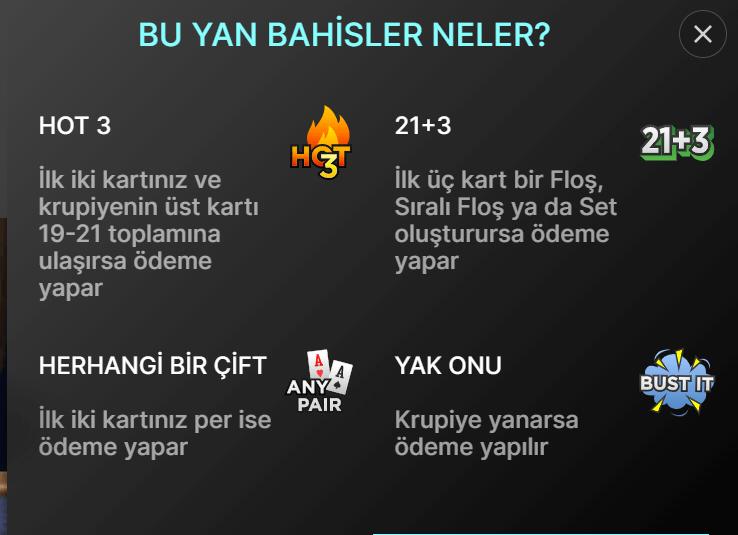 Power Blackjack Yan Bahisler